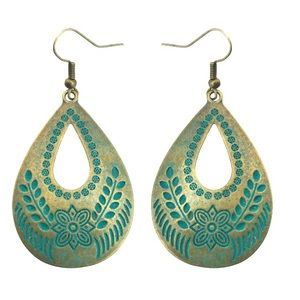 Last two! Copper Patina Boho Earrings